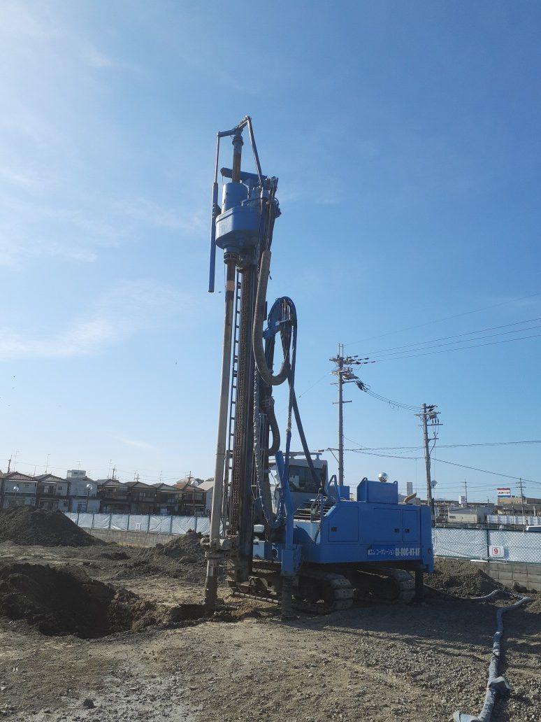 宇治市新築工場地盤改良工事