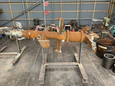 京都営業所にてGIコラムφ800mm攪拌ヘッド修繕