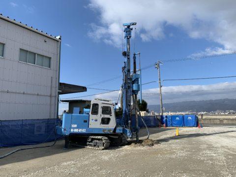兵庫県西宮市、某工場内地盤改良