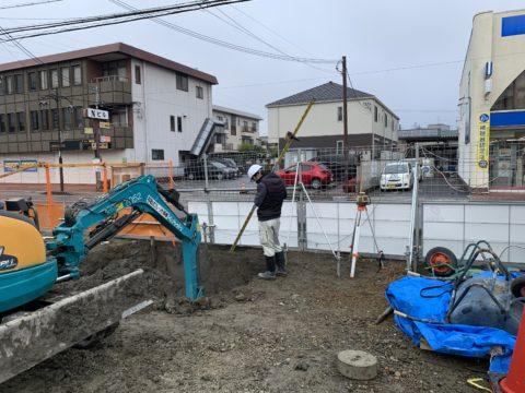 滋賀県某薬局、地盤改良工事