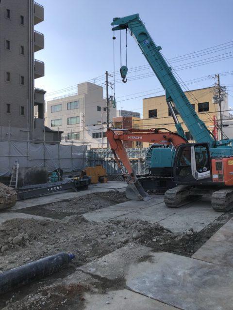 東成区場所打ち杭抜き工事