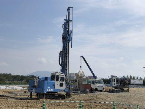 近江八幡市某こどもえんGI-80C SSコラム地盤改良工事