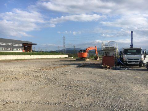 甲賀市土山町 某倉庫新築工事GI-80  SSコラム地盤改良工事