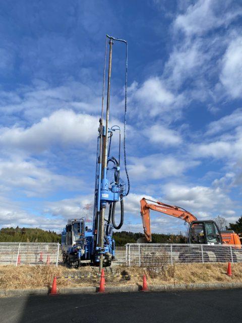 甲賀市水口町某工場新築工事SSコラム工法 GI-130C