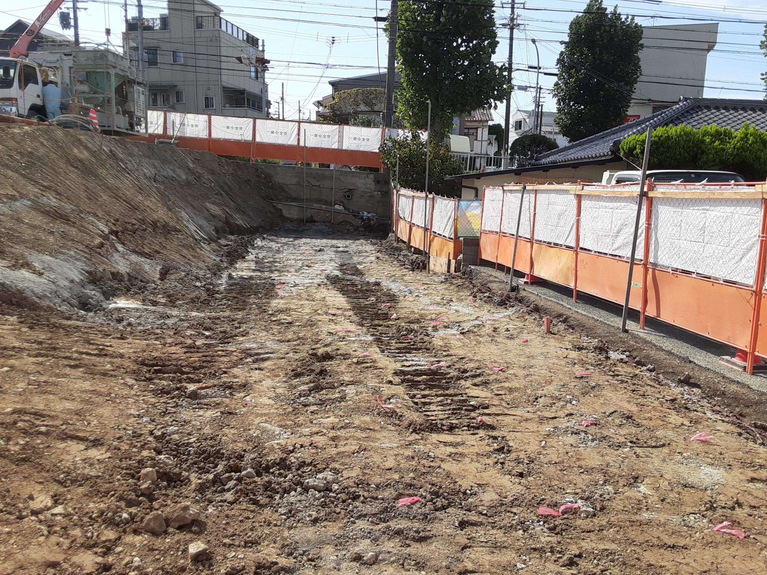 池田市某擁壁基礎下改良工事