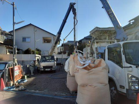 京都市伏見区某住宅柱状改良ソイルコラム工法