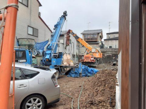 京都市伏見区某マンション柱状改良SSコラム工法