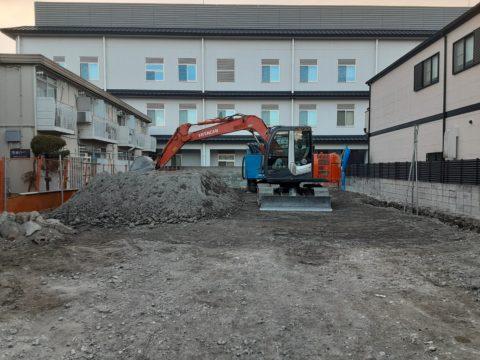 京都市伏見区某マンション柱状改良現場