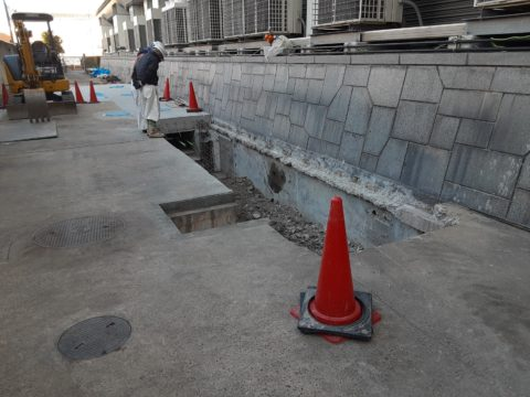 京都市南区某柱状改良現場