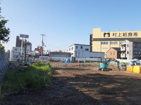 東大阪市某擁壁下柱状改良現場